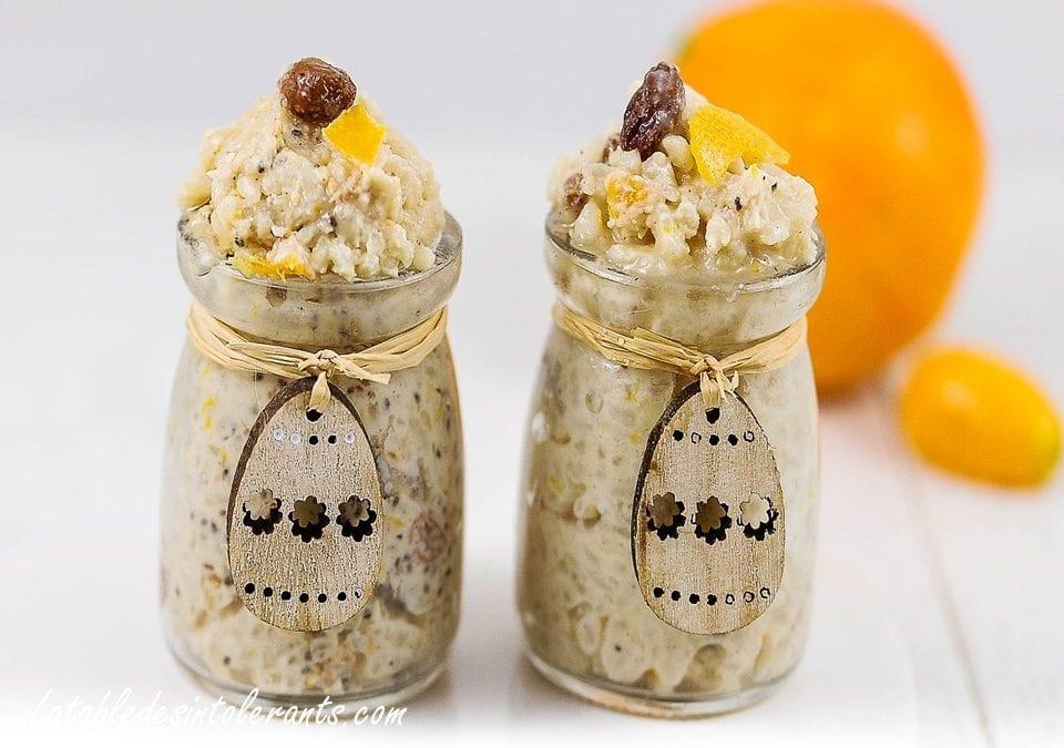 RIZ AU LAIT AU CITRON & ORANGE CONFITE sans lait, avec ou sans sucre, avec ou sans œuf