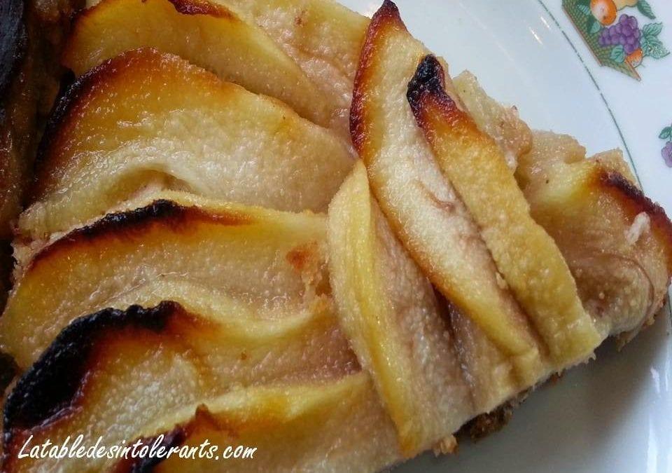 TARTE AUX POIRES ET AMANDES sans gluten, sans lait, sans sucre, sans œuf