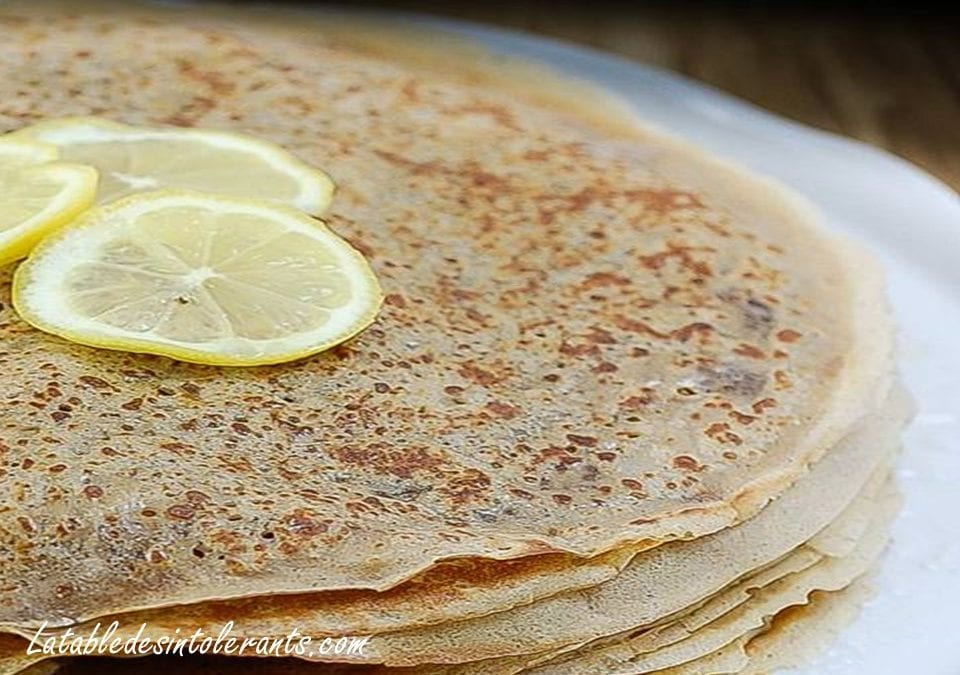 PÂTE À CRÊPES sans gluten ni lait ni sucre ni œuf