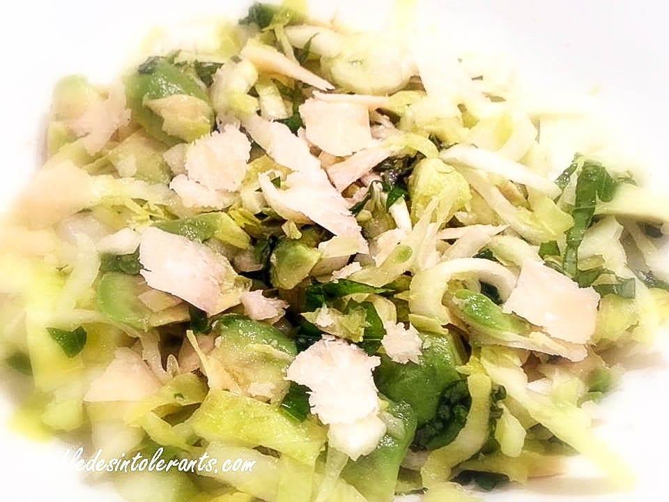 recette salade pour intolérances et allergies alimentaires