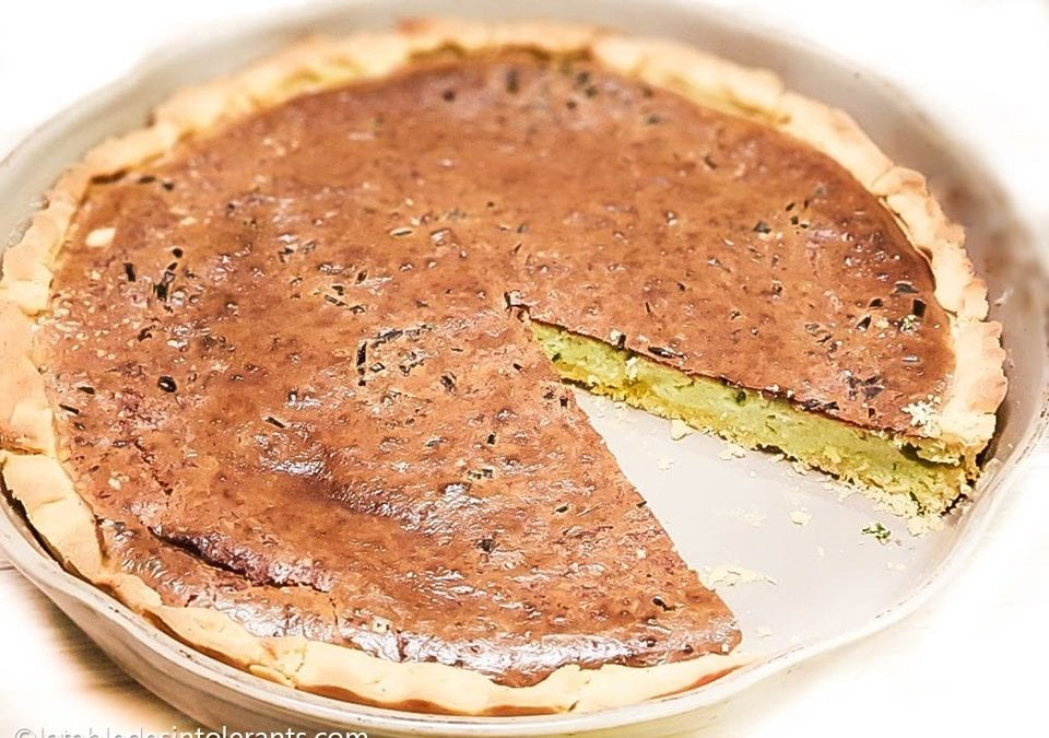 TARTE À L'AIL ROSE DE LAUTREC sans gluten, faible ou sans lactose, avec ou sans œuf