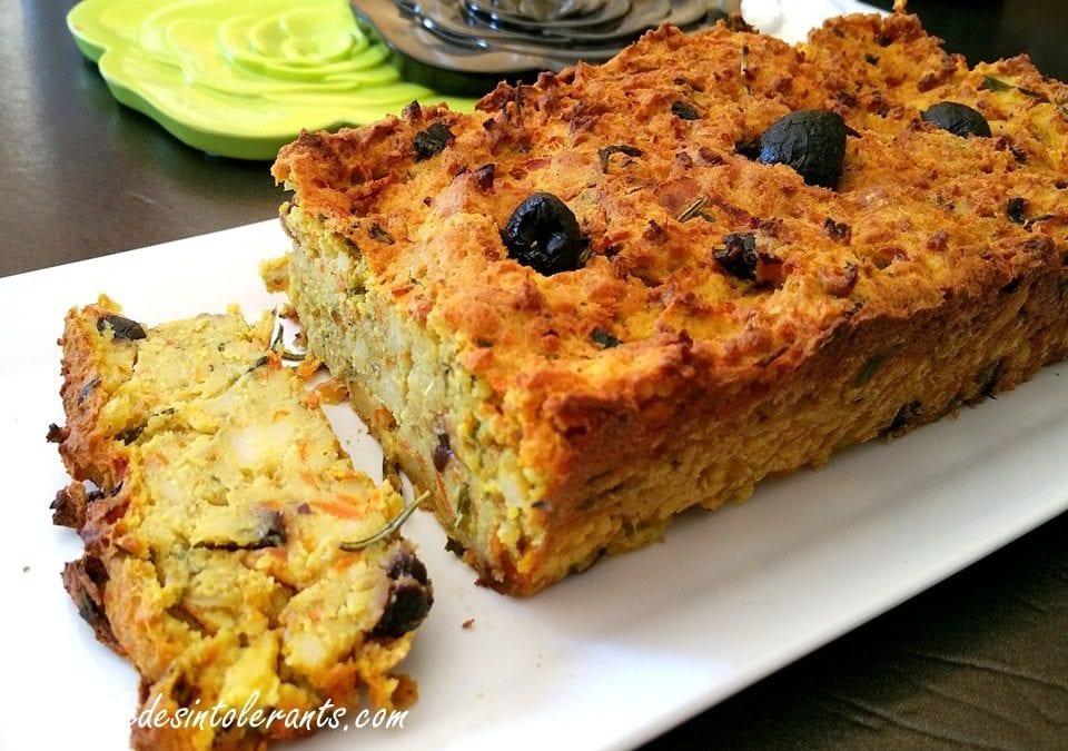 TERRINE DE POIS CHICHES sans gluten, sans lait, sans levure, sans œuf