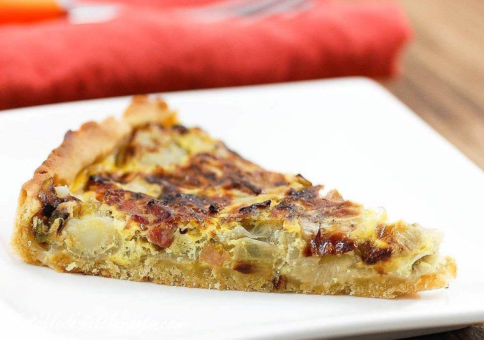 TARTES AUX ENDIVES sans gluten, sans lait et sans lactose, sans levure