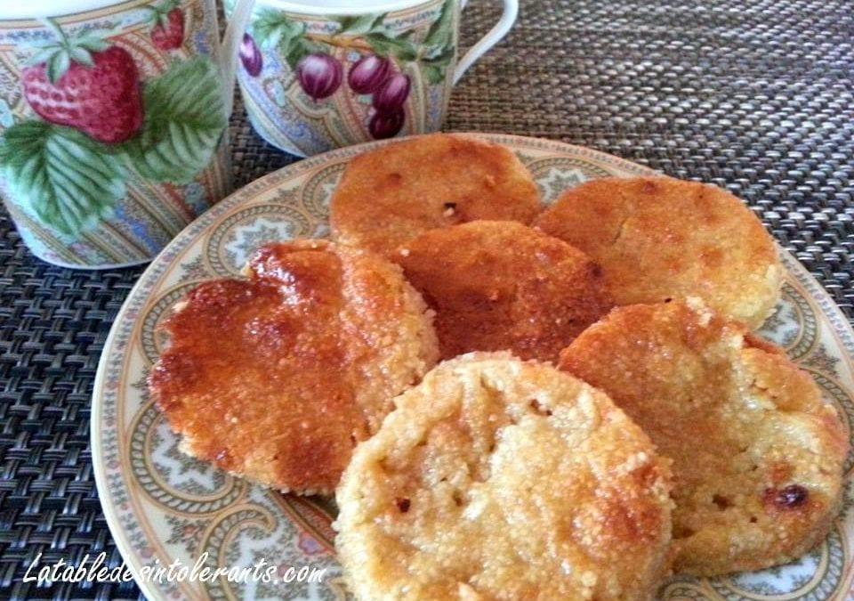 PALETS AUX AMANDES sans gluten ni lait, avec ou sans sucre, sans levure, sans œuf