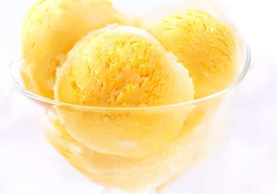 SORBET ANANAS au Thermomix sans sucre, sans œuf