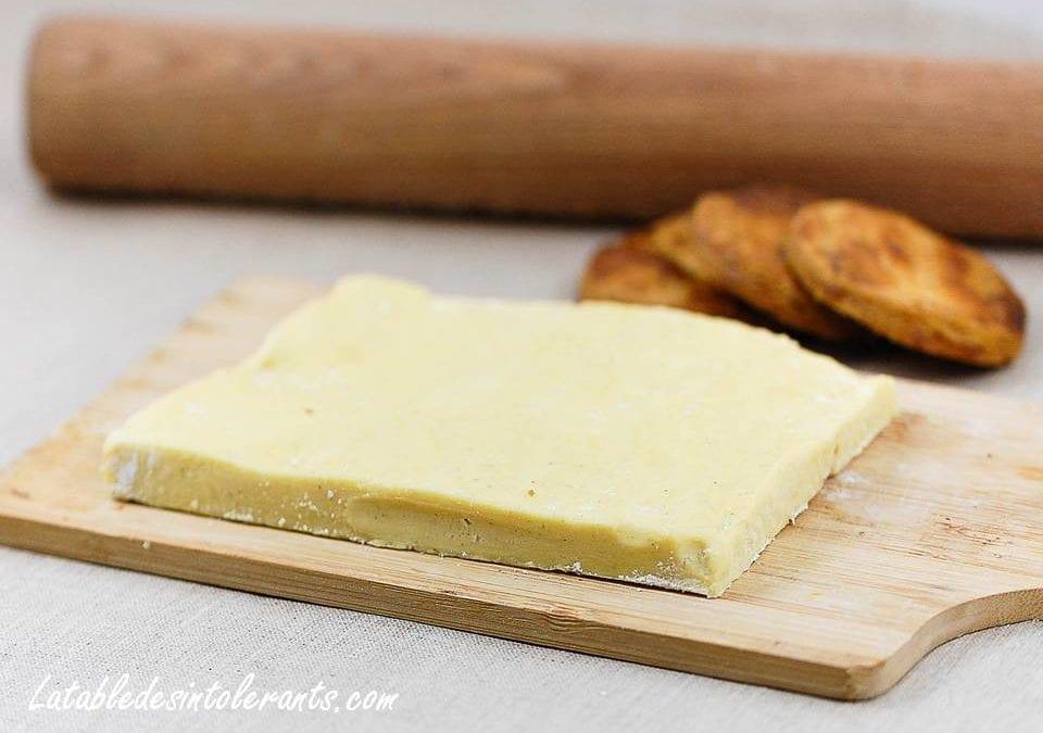 PÂTE FEUILLETÉE sans gluten, sans lactose, sans sucre, sans levure, sans oeuf