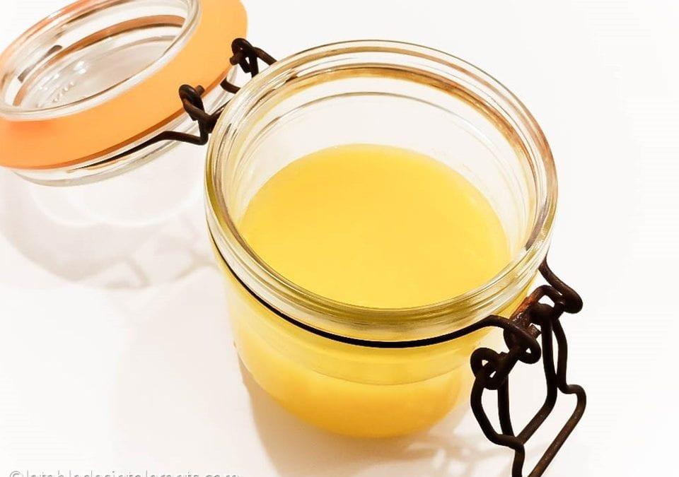 BEURRE CLARIFIÉ ou GHEE à la vapeur douce sans caséine, sans lactose