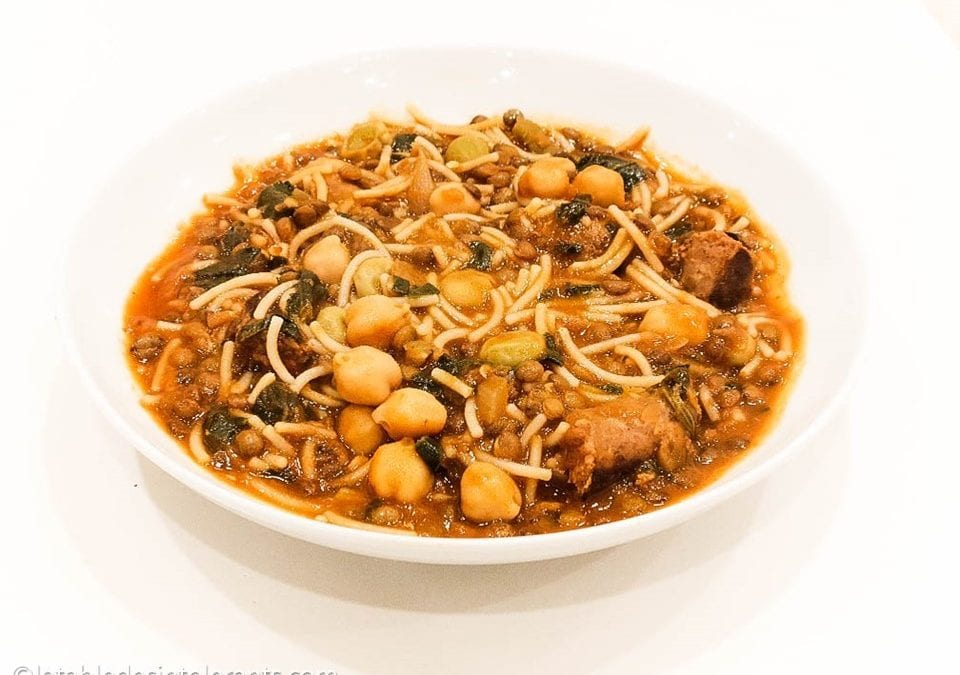 HLALEM AUX MERGUEZ (soupe tunisienne) sans gluten