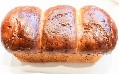BRIOCHE SANS GLUTEN AU LEVAIN «MAISON» SANS GLUTEN, sans lactose ou sans lait, sans sucre