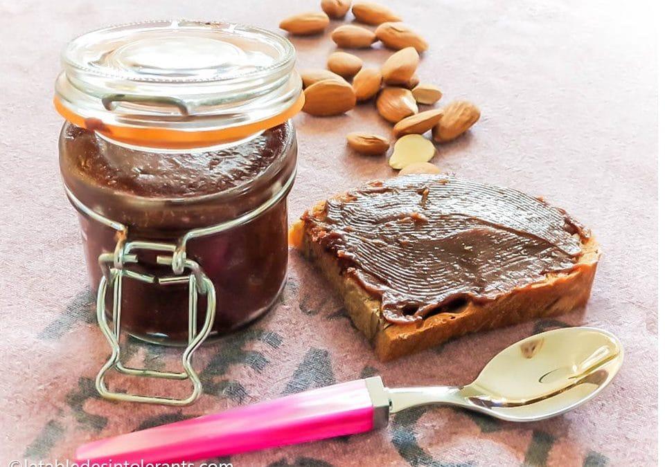 PÂTE À TARTINER CHOCOLAT PISTACHE sans gluten, sans lait, avec ou sans sucre