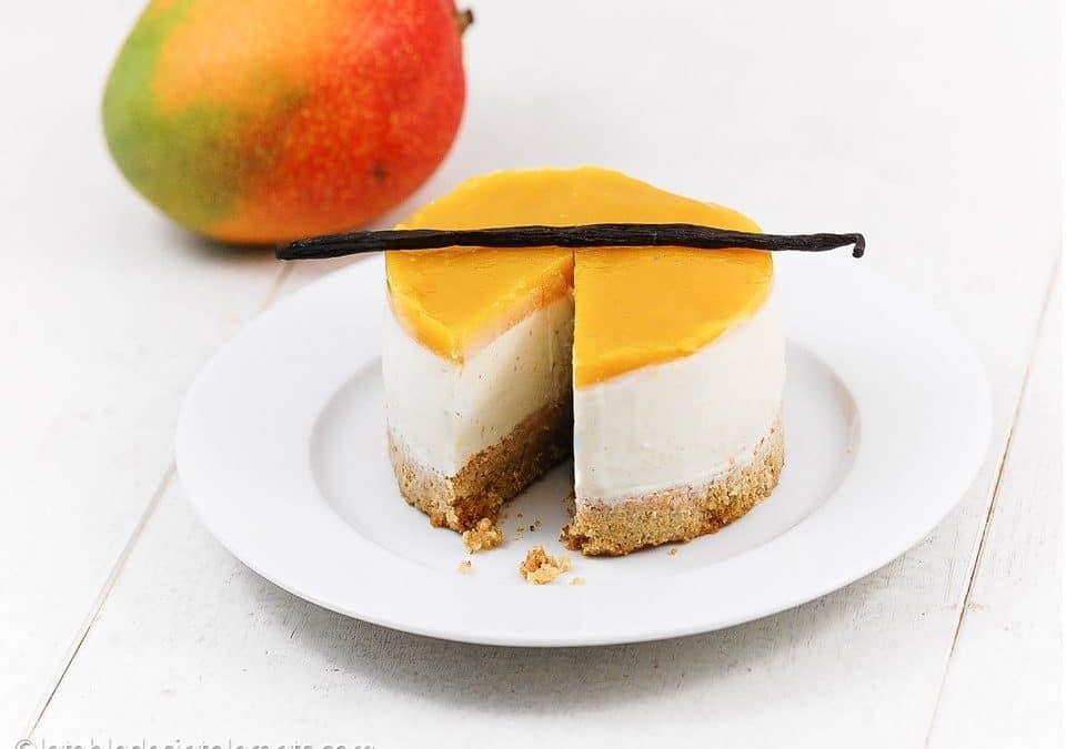 CHEESECAKE VANILLE MANGUE sans gluten, sans lactose, avec ou sans sucre