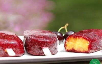 BÂTONNETS GLACÉS MANGUE FRUITS ROUGES sans gluten ni lait, avec ou sans sucre, sans œuf
